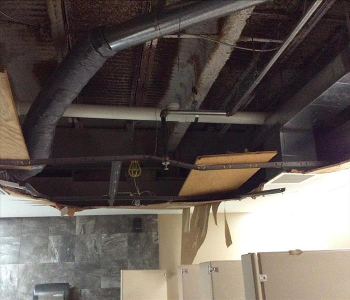 Roof leak with water damage in Webster Groves